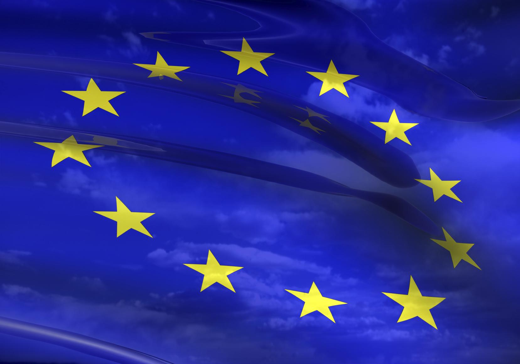 EU flag 3D