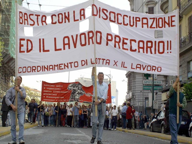 CRO CORTEO NO GLOBAL DEL 1° MAGGIO (FOTO SUD FOTO)